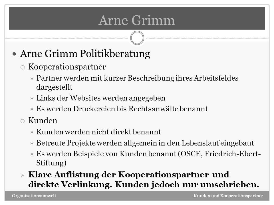 Arne Grimm Arne Grimm Politikberatung Kooperationspartner Kunden