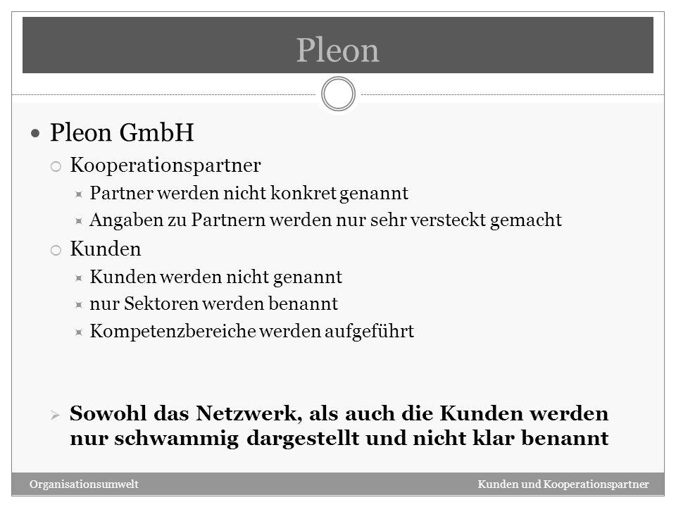 Pleon Pleon GmbH Kooperationspartner Kunden