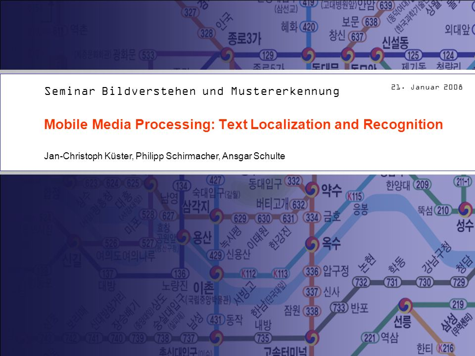 Mobile Media Processing: Text Localization and Recognition
