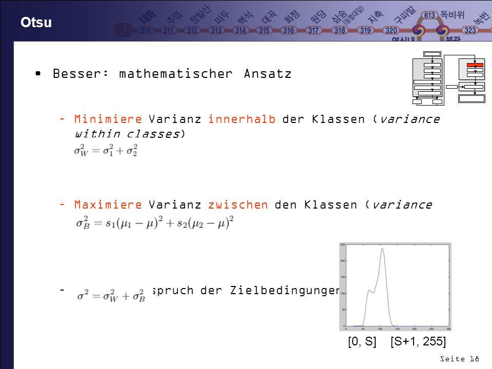 Besser: mathematischer Ansatz