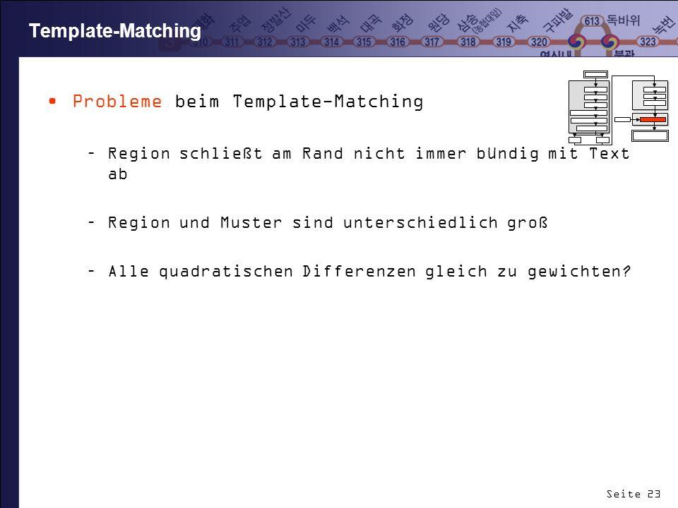 Probleme beim Template-Matching