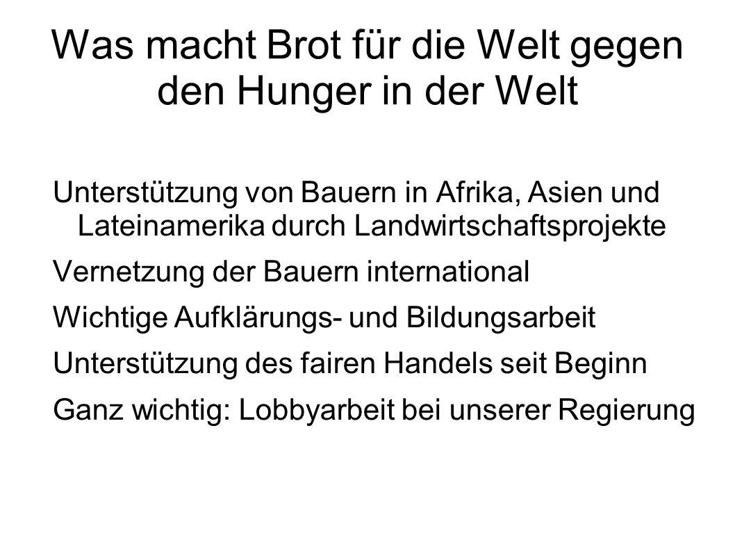 Was macht Brot für die Welt gegen den Hunger in der Welt