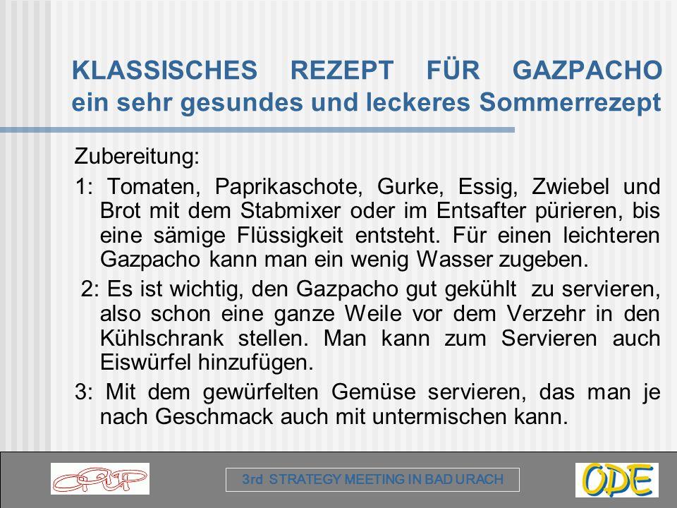 KLASSISCHES REZEPT FÜR GAZPACHO ein sehr gesundes und leckeres Sommerrezept
