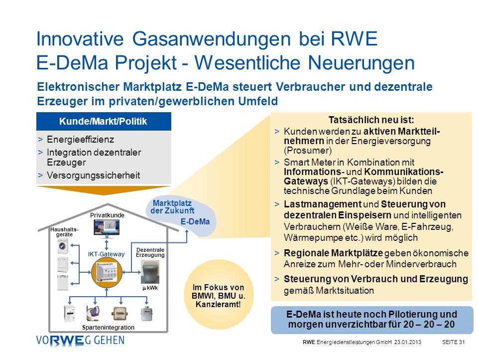 Marktplatz der Zukunft Im Fokus von BMWI, BMU u. Kanzleramt!