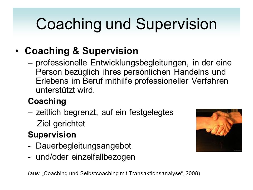 Coaching und Supervision