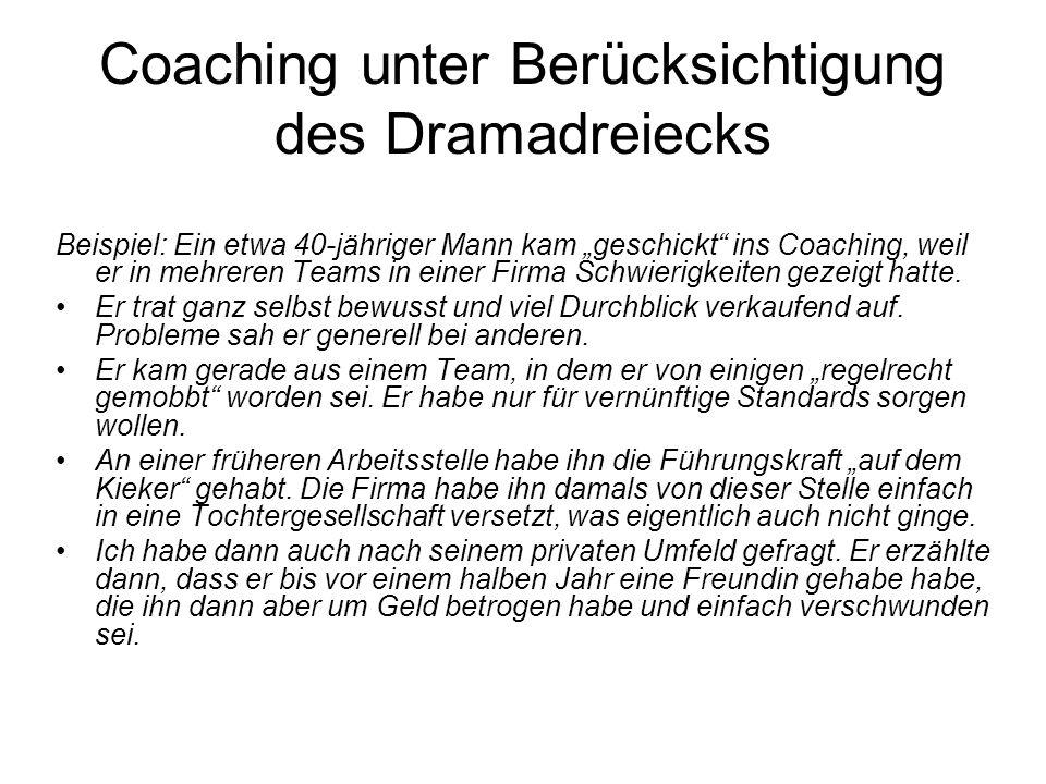 Coaching unter Berücksichtigung des Dramadreiecks