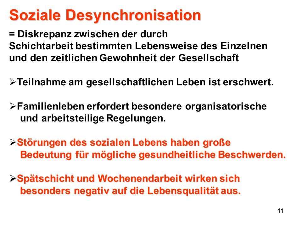 Soziale Desynchronisation
