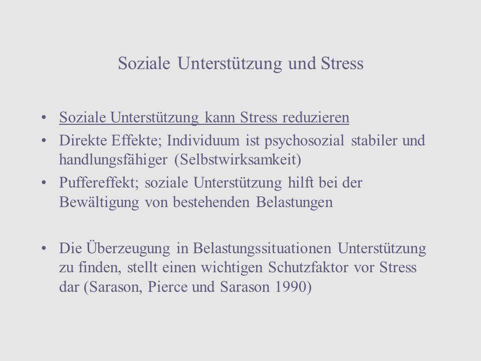 Soziale Unterstützung und Stress