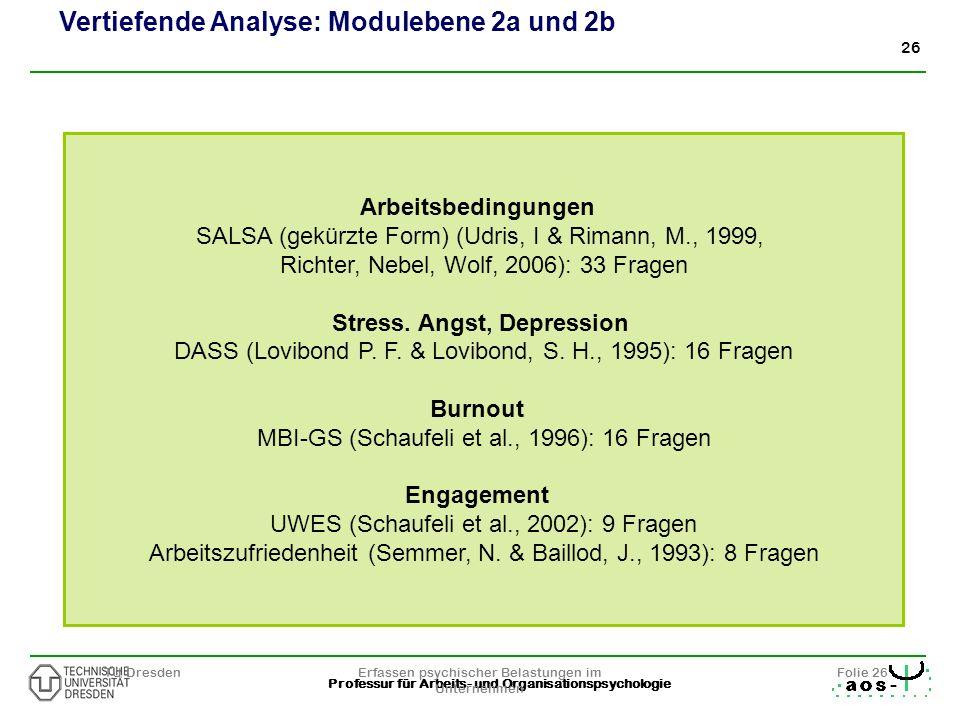 Vertiefende Analyse: Modulebene 2a und 2b