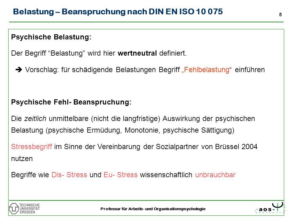 Belastung – Beanspruchung nach DIN EN ISO 10 075
