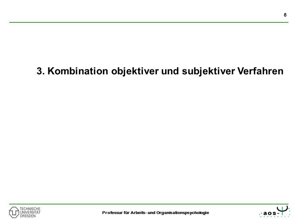 3. Kombination objektiver und subjektiver Verfahren