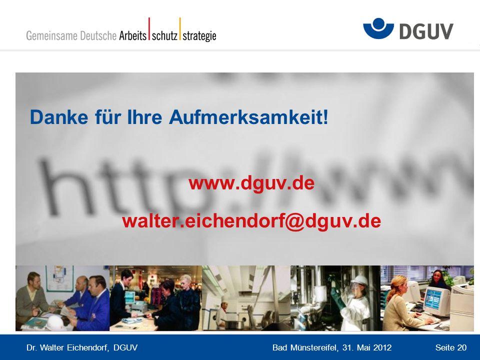 www.dguv.de walter.eichendorf@dguv.de