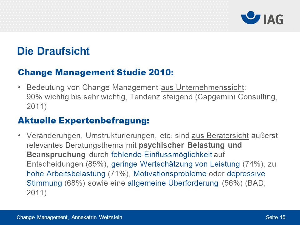 Die Draufsicht Change Management Studie 2010: