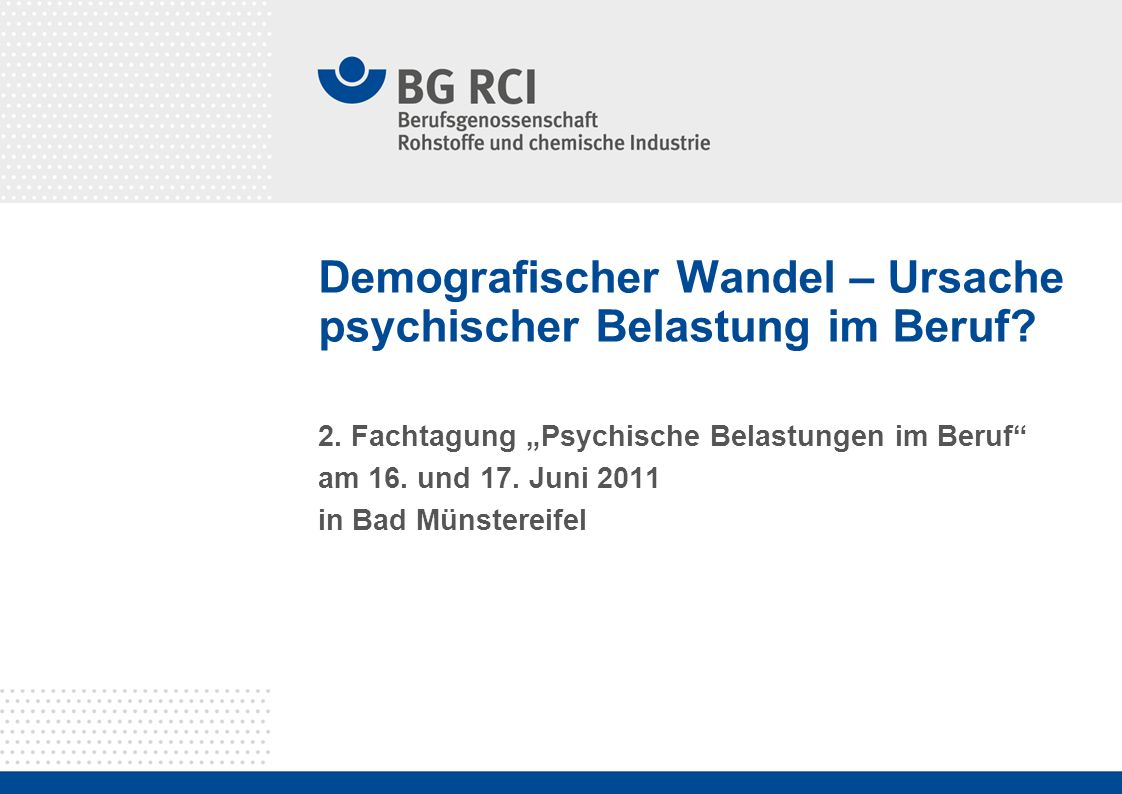 Demografischer Wandel – Ursache psychischer Belastung im Beruf