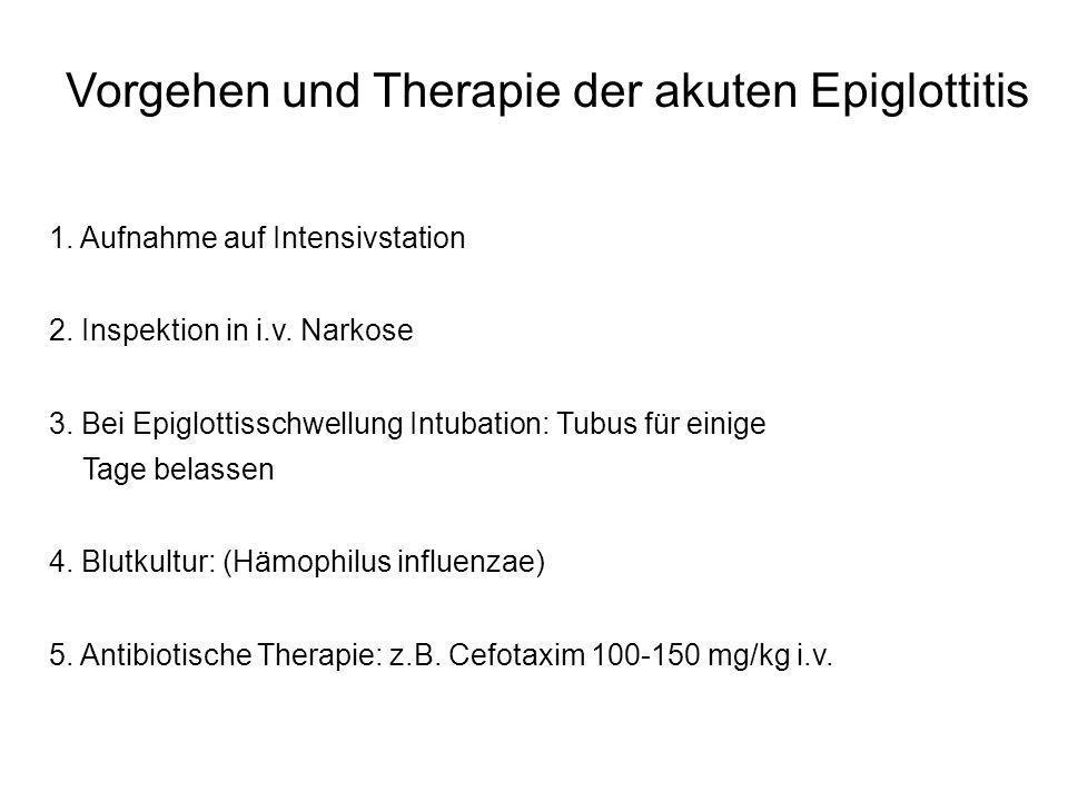 Vorgehen und Therapie der akuten Epiglottitis
