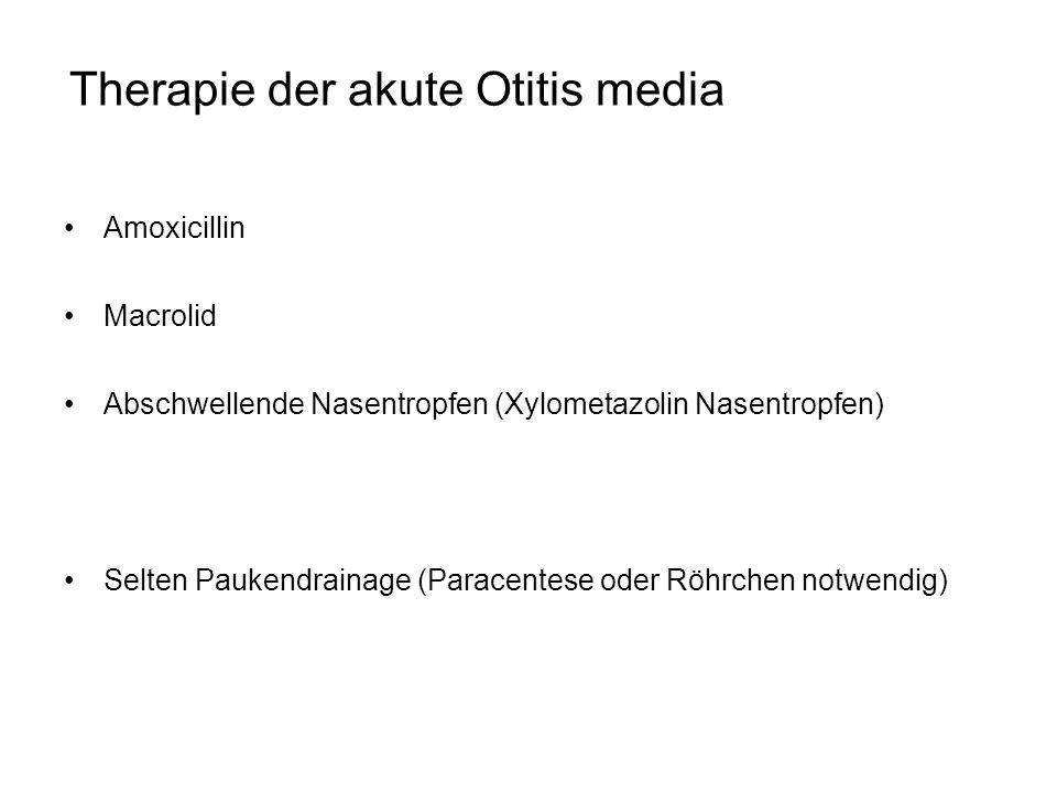 Therapie der akute Otitis media