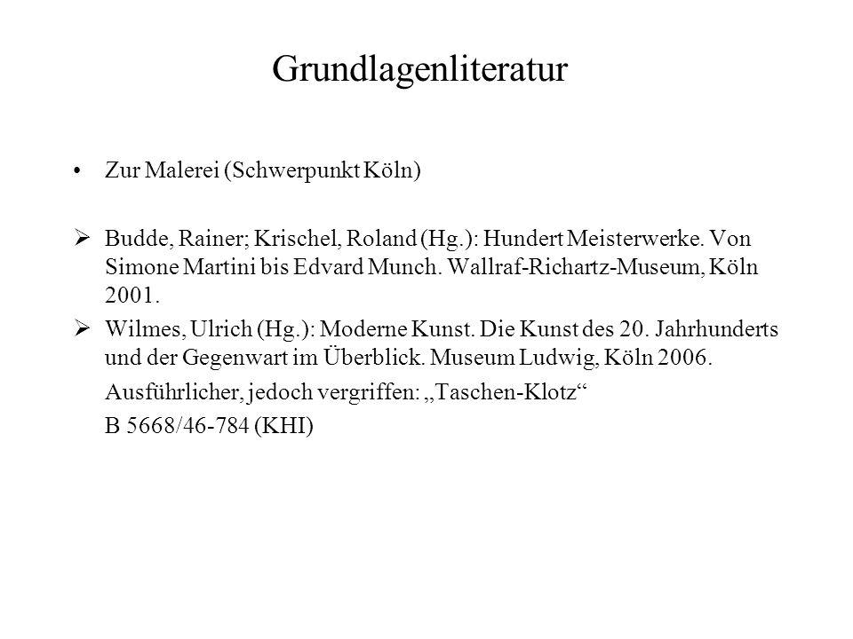 Grundlagenliteratur Zur Malerei (Schwerpunkt Köln)