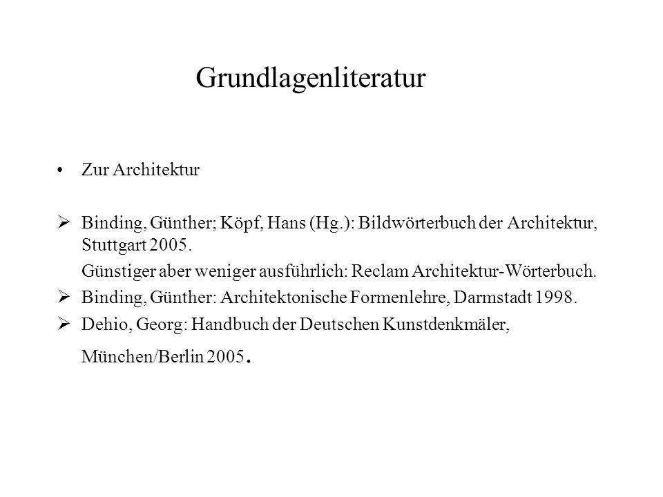 Grundlagenliteratur Zur Architektur