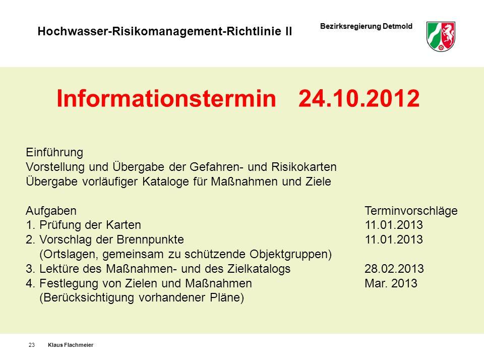 Informationstermin 24.10.2012 Einführung