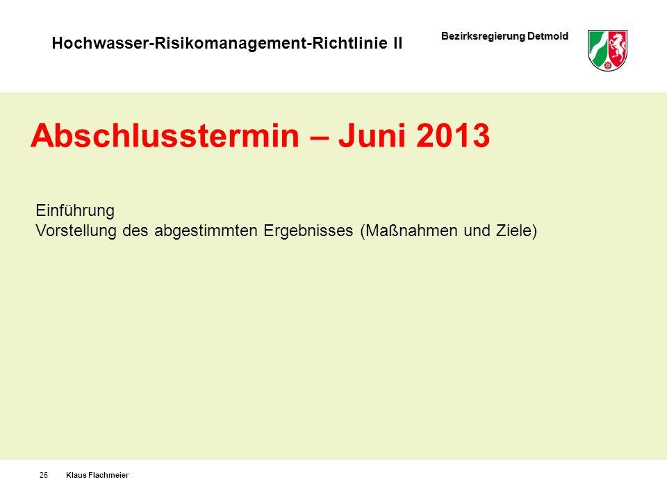 Abschlusstermin – Juni 2013