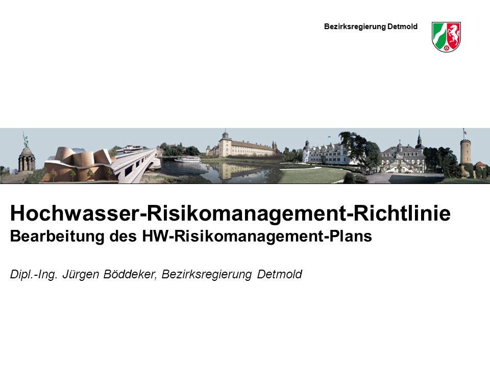 Hochwasser-Risikomanagement-Richtlinie Bearbeitung des HW-Risikomanagement-Plans