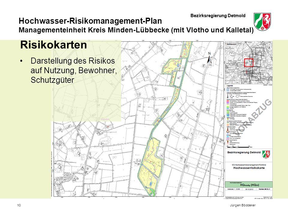 Risikokarten Darstellung des Risikos auf Nutzung, Bewohner, Schutzgüter Jürgen Böddeker