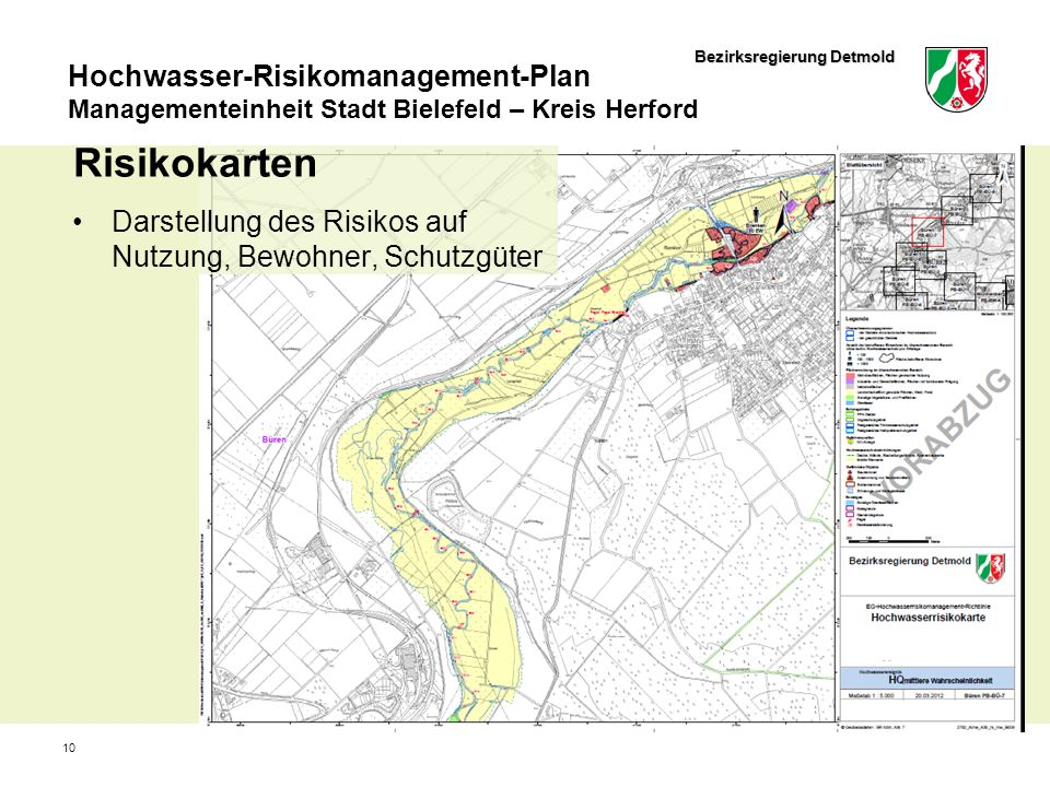 Risikokarten Darstellung des Risikos auf Nutzung, Bewohner, Schutzgüter