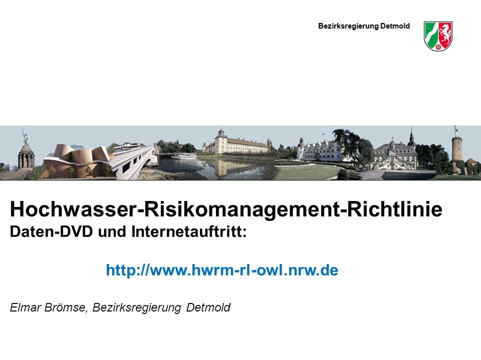 Hochwasser-Risikomanagement-Richtlinie Daten-DVD und Internetauftritt: