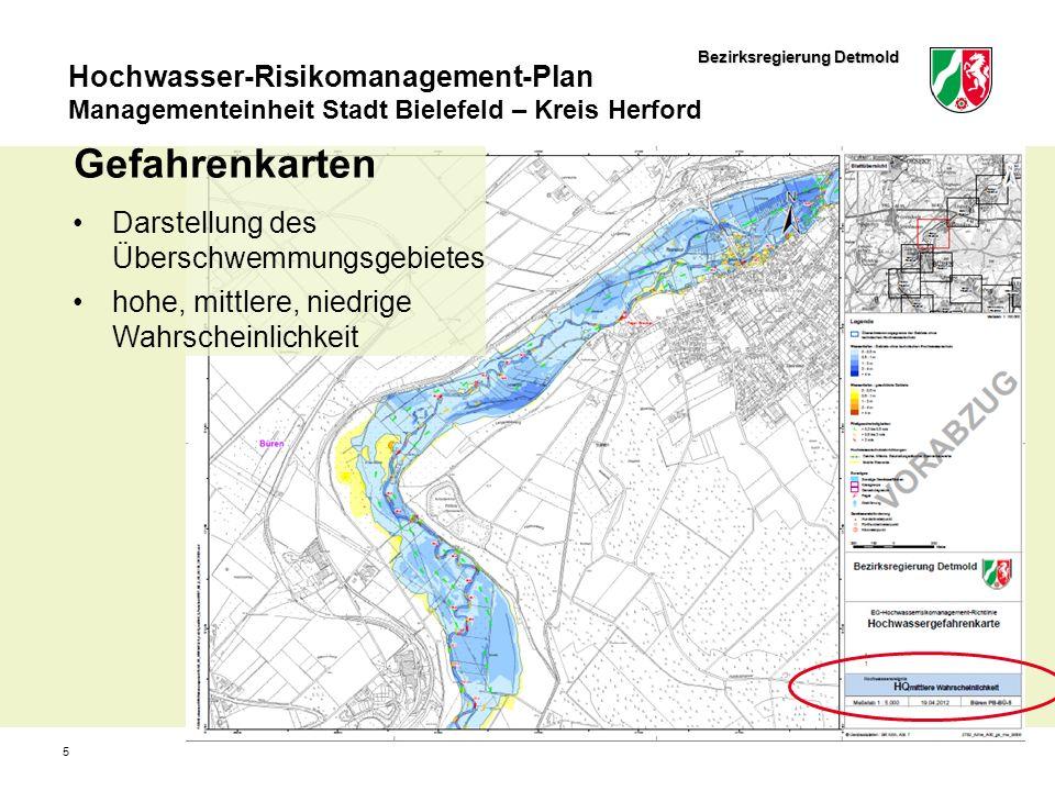 Gefahrenkarten Darstellung des Überschwemmungsgebietes