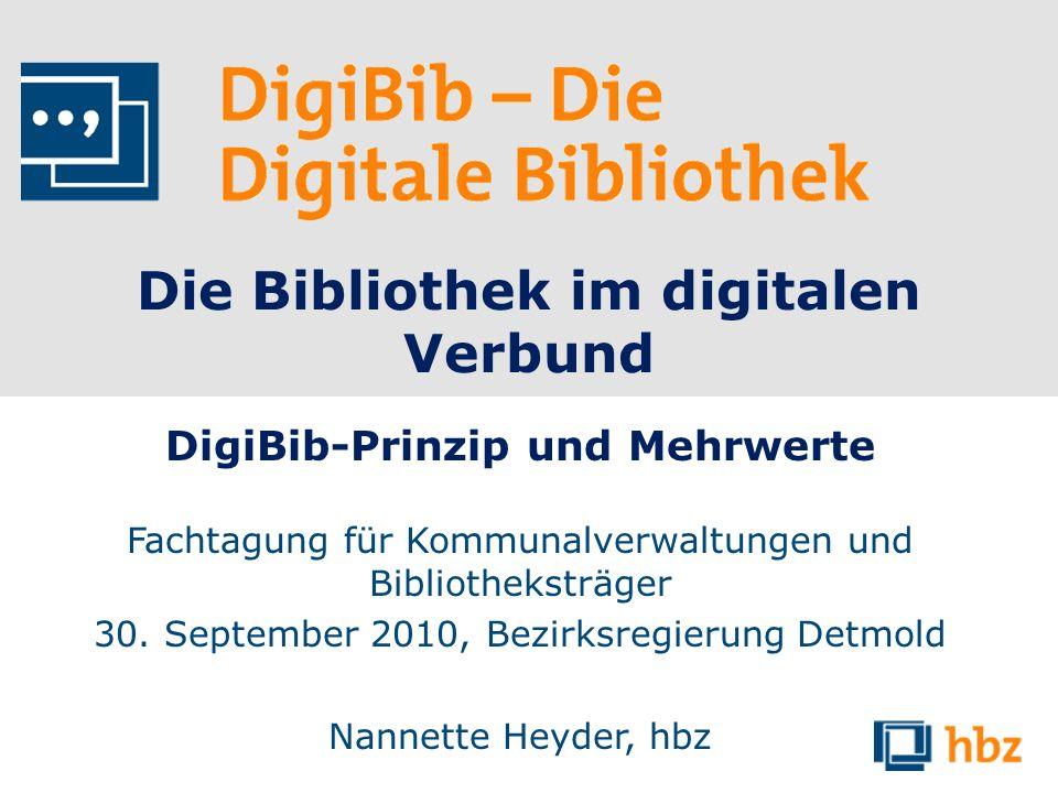 Die Bibliothek im digitalen Verbund DigiBib-Prinzip und Mehrwerte