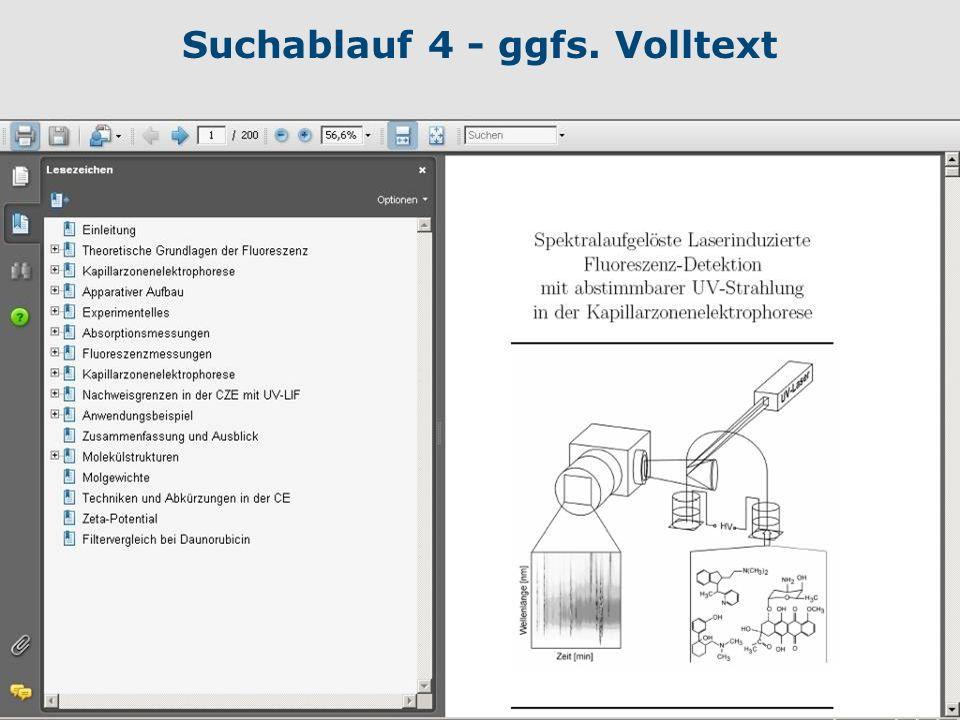 Suchablauf 4 - ggfs. Volltext