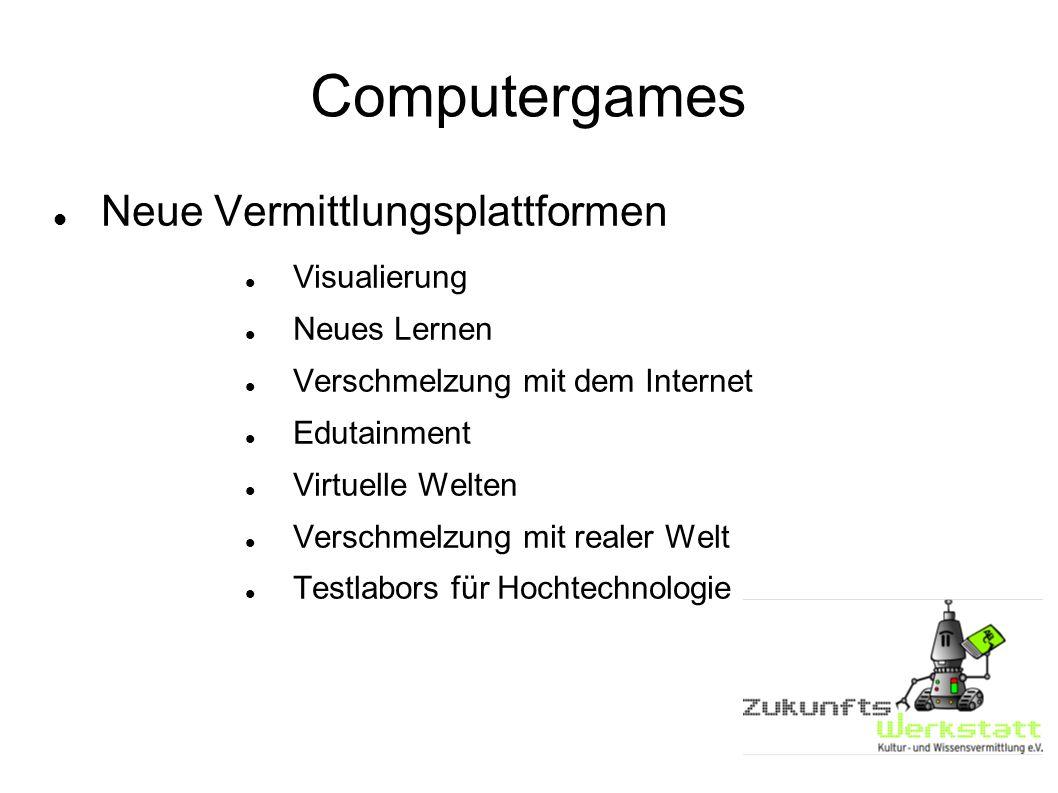 Computergames Neue Vermittlungsplattformen Visualierung Neues Lernen