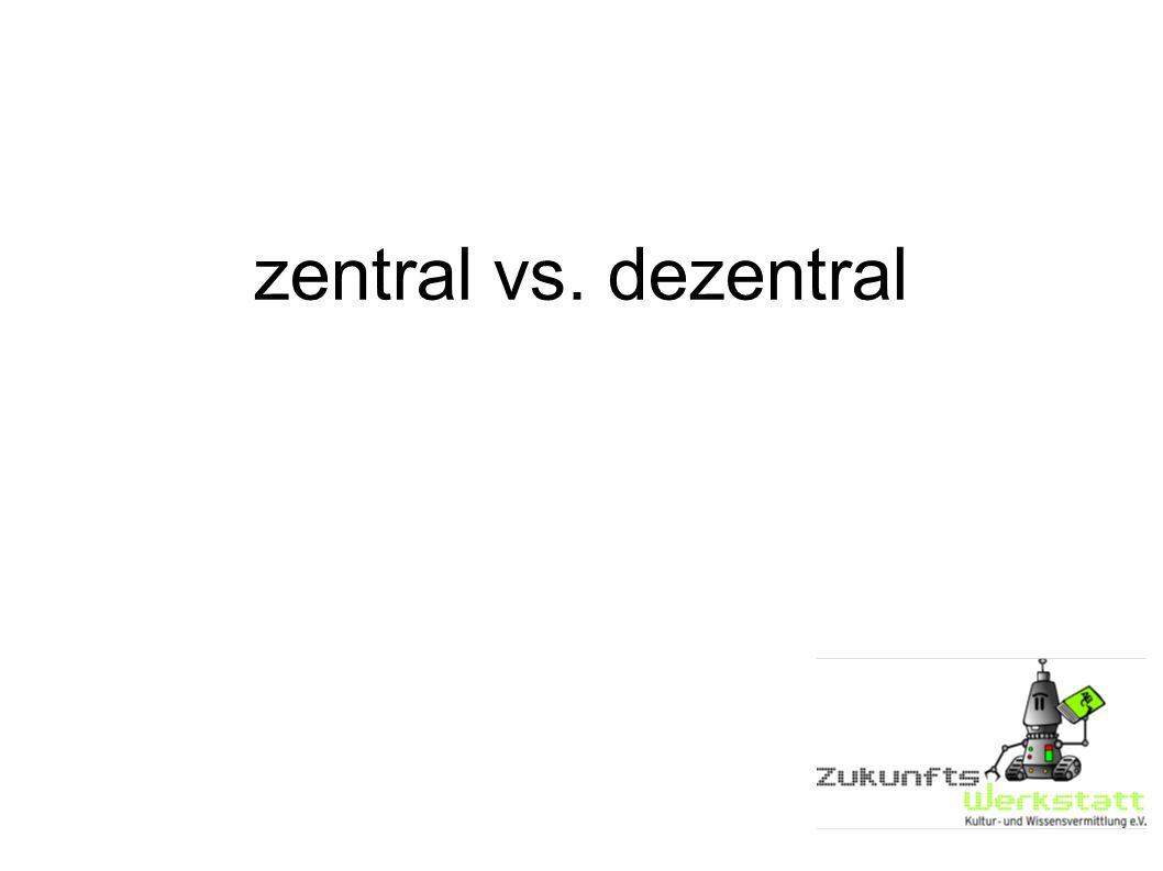 zentral vs. dezentral