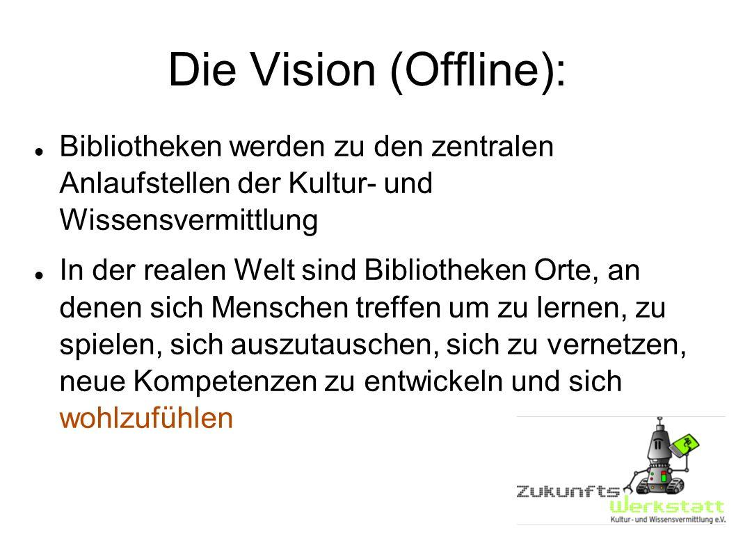 Die Vision (Offline): Bibliotheken werden zu den zentralen Anlaufstellen der Kultur- und Wissensvermittlung.