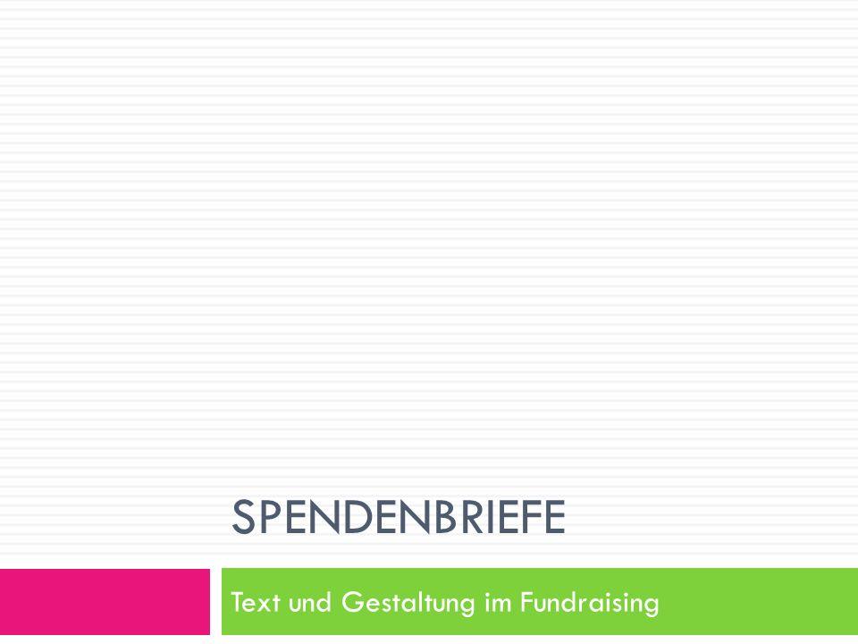 Text und Gestaltung im Fundraising