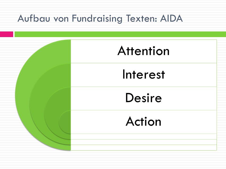 Aufbau von Fundraising Texten: AIDA