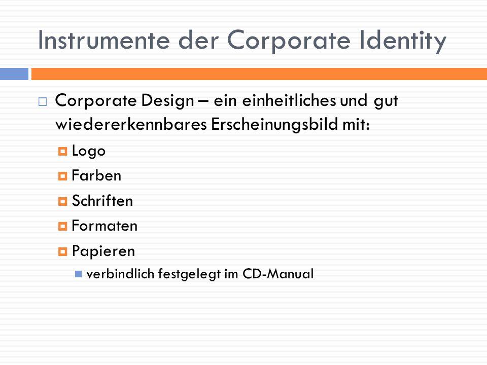 Instrumente der Corporate Identity