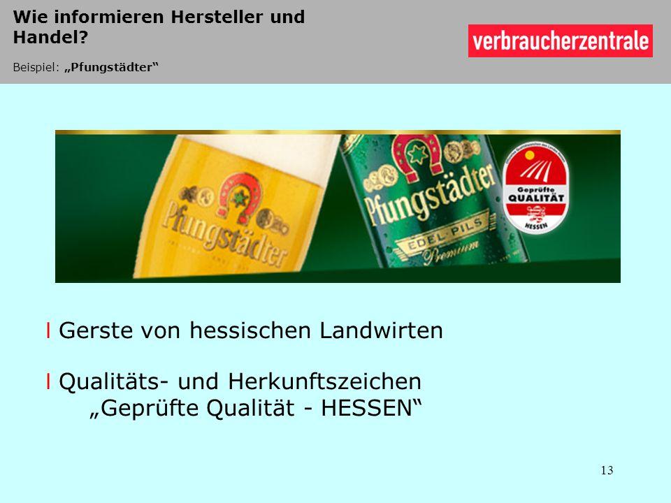 Gerste von hessischen Landwirten