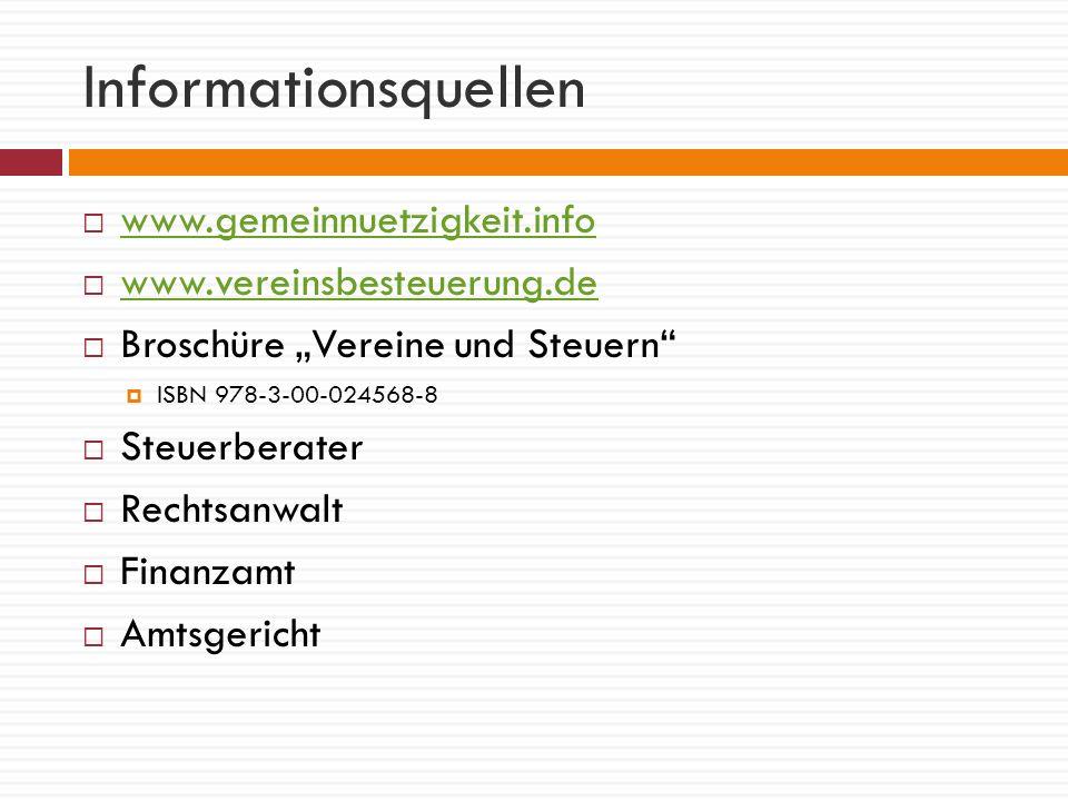 Informationsquellen www.gemeinnuetzigkeit.info