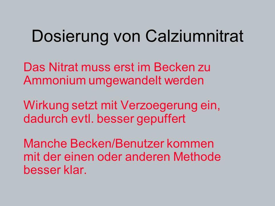 Dosierung von Calziumnitrat