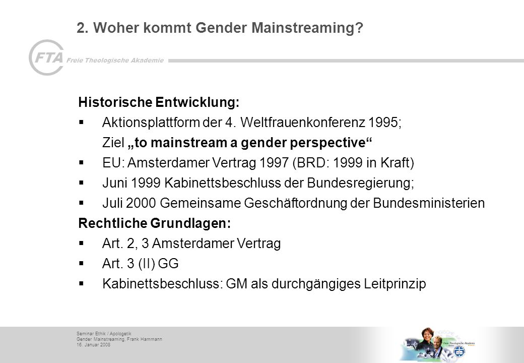 2. Woher kommt Gender Mainstreaming