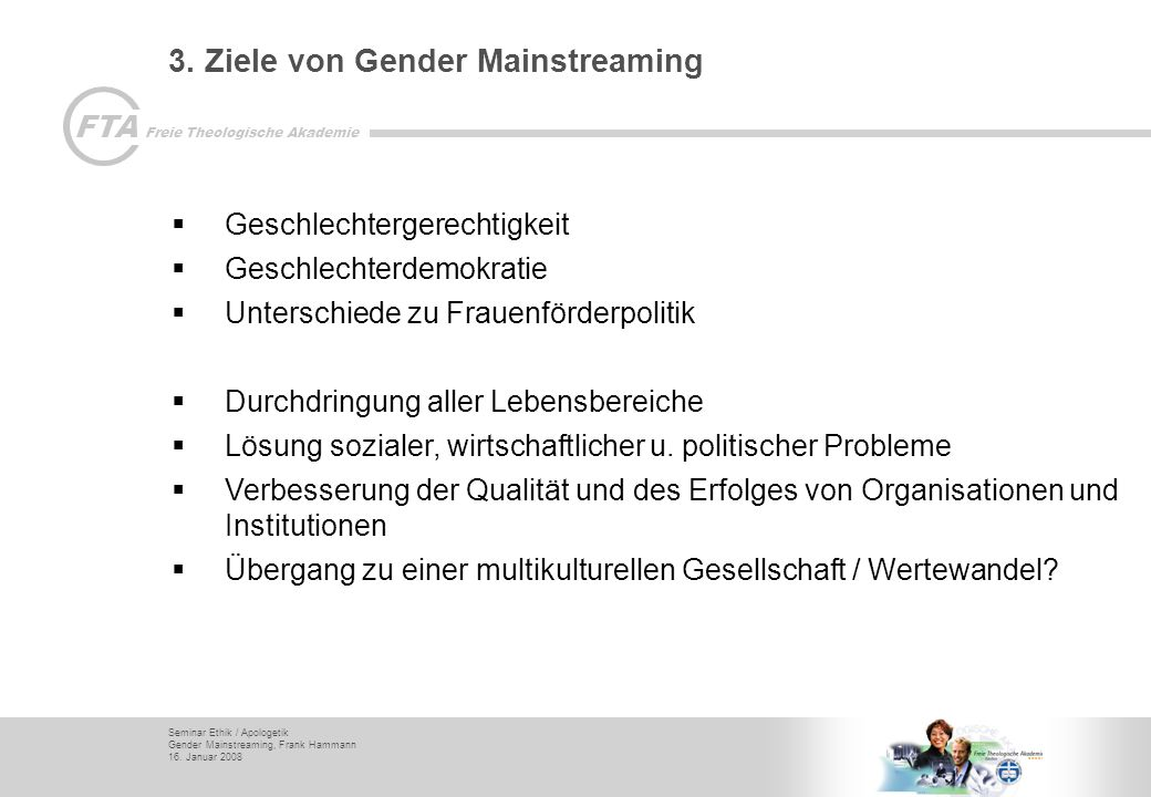 3. Ziele von Gender Mainstreaming