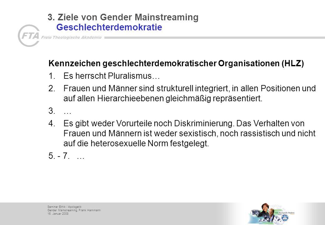 3. Ziele von Gender Mainstreaming Geschlechterdemokratie