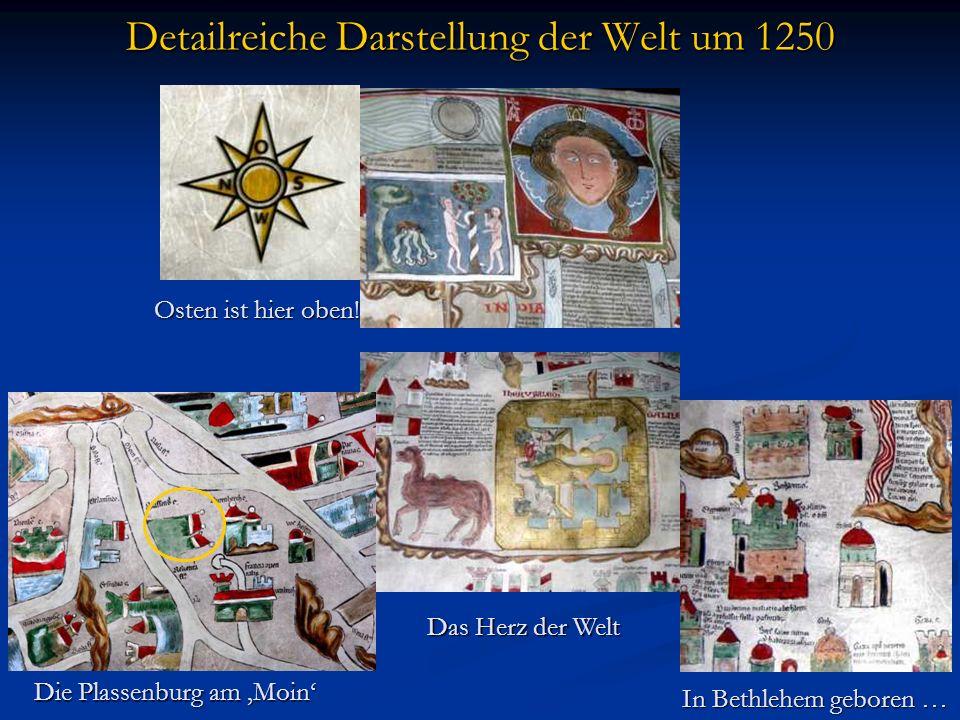 Detailreiche Darstellung der Welt um 1250