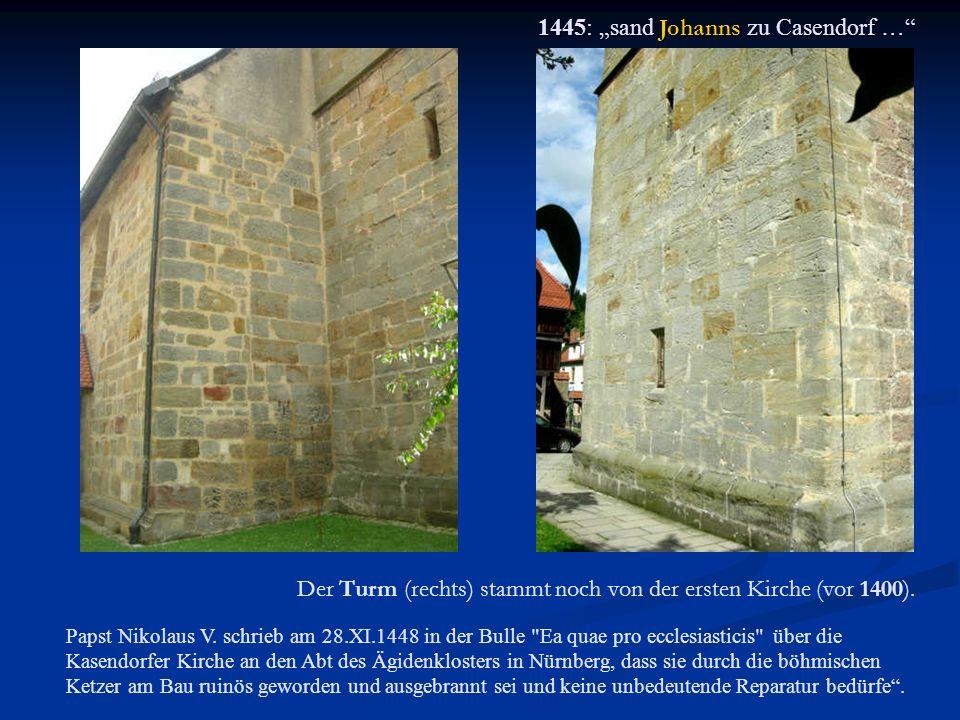 "1445: ""sand Johanns zu Casendorf …"