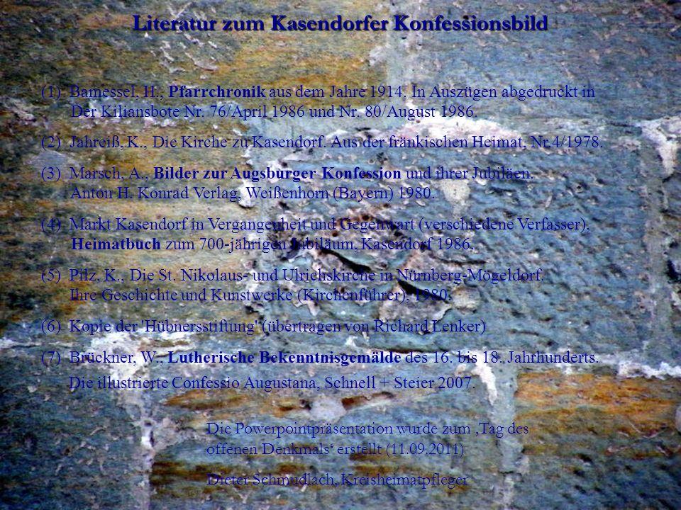 Literatur zum Kasendorfer Konfessionsbild