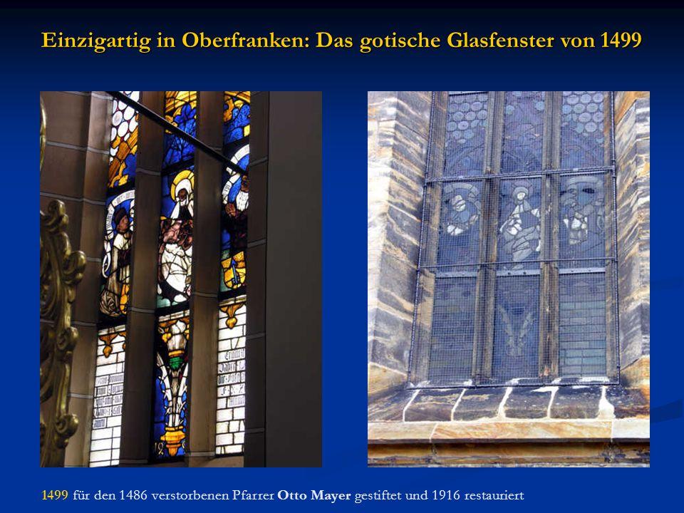 Einzigartig in Oberfranken: Das gotische Glasfenster von 1499