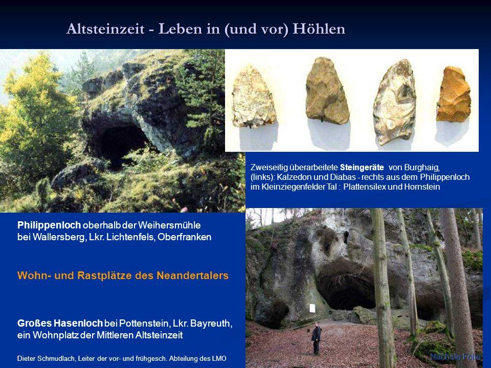 Altsteinzeit - Leben in (und vor) Höhlen