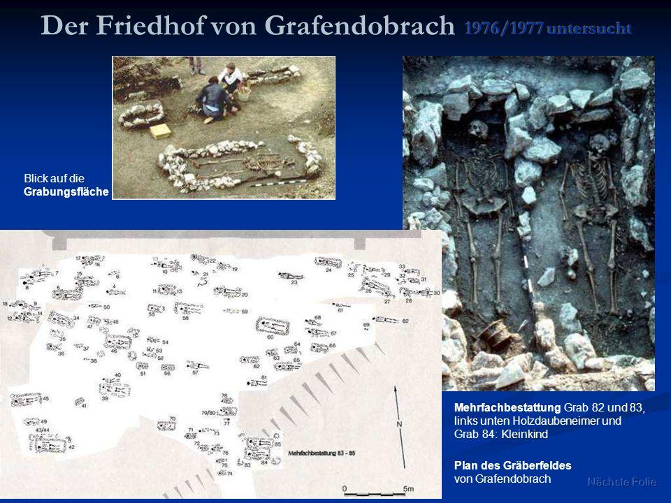 Der Friedhof von Grafendobrach 1976/1977 untersucht