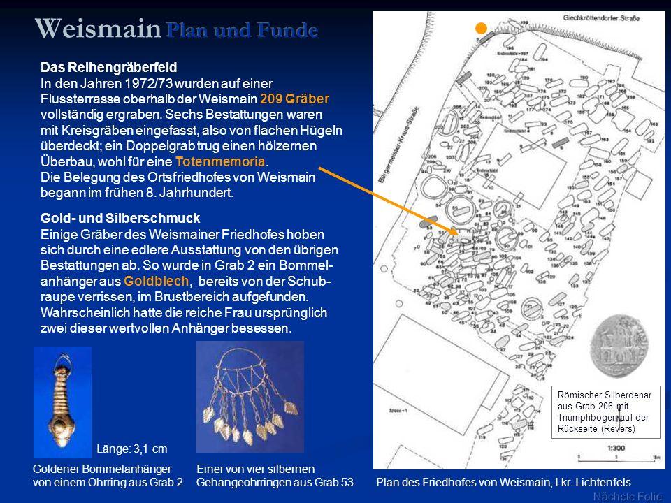 Weismain Plan und Funde